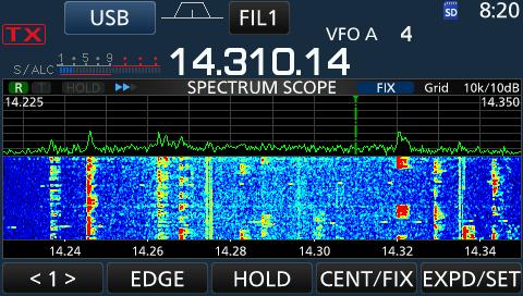 Icom 7300 Spectrum Scope - View