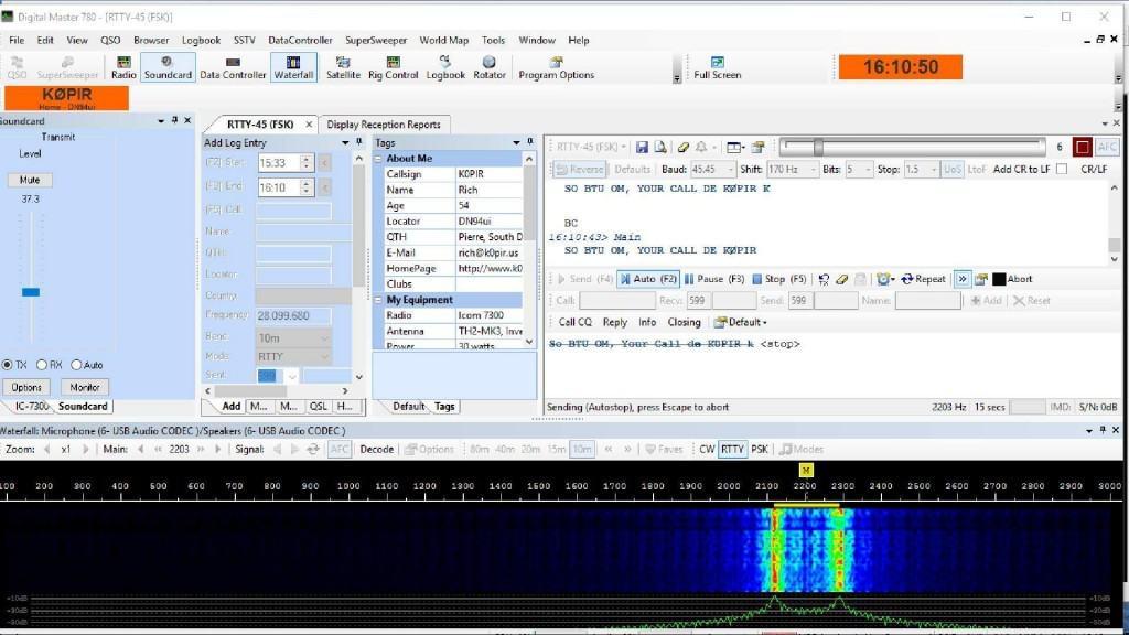 icom 7300 hrd fsk dm780