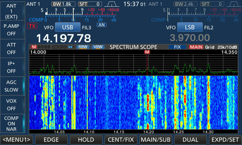 icom 7610 spectrum scope