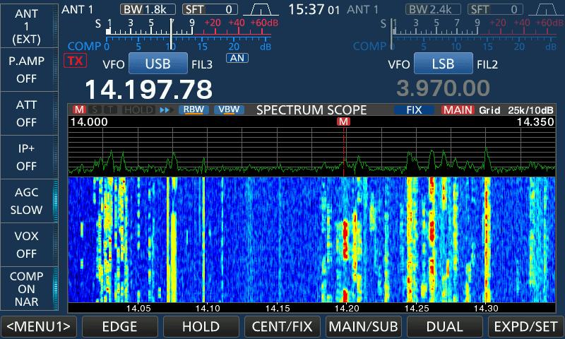 icom 7610 spectrum scope