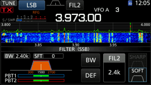 icom ic-7300 screen pass band filter mini scope