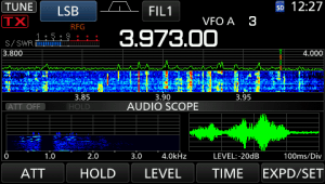 icom ic-7300 screen audio scope