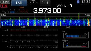 icom ic-7300 screen mini spectrum scope