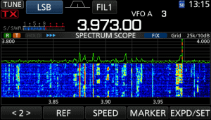 icom ic-7300 screen shot