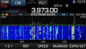 icom ic-7300 screen shot