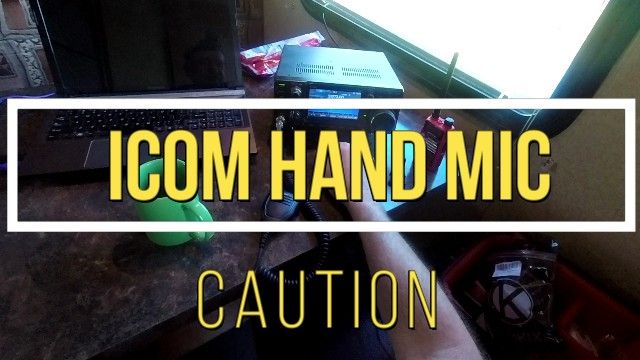 icom hand mic caution