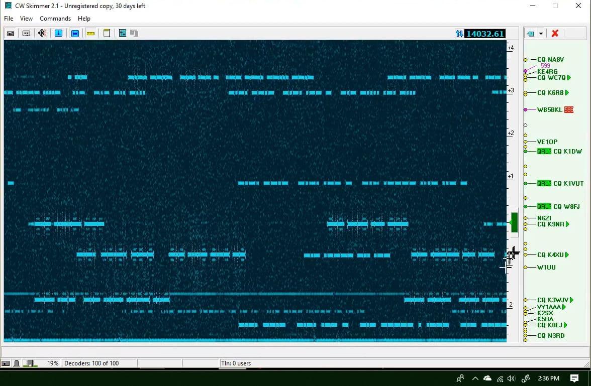 24 kHz CW Skimmer with the Icom 7610   How To - Ham Radio