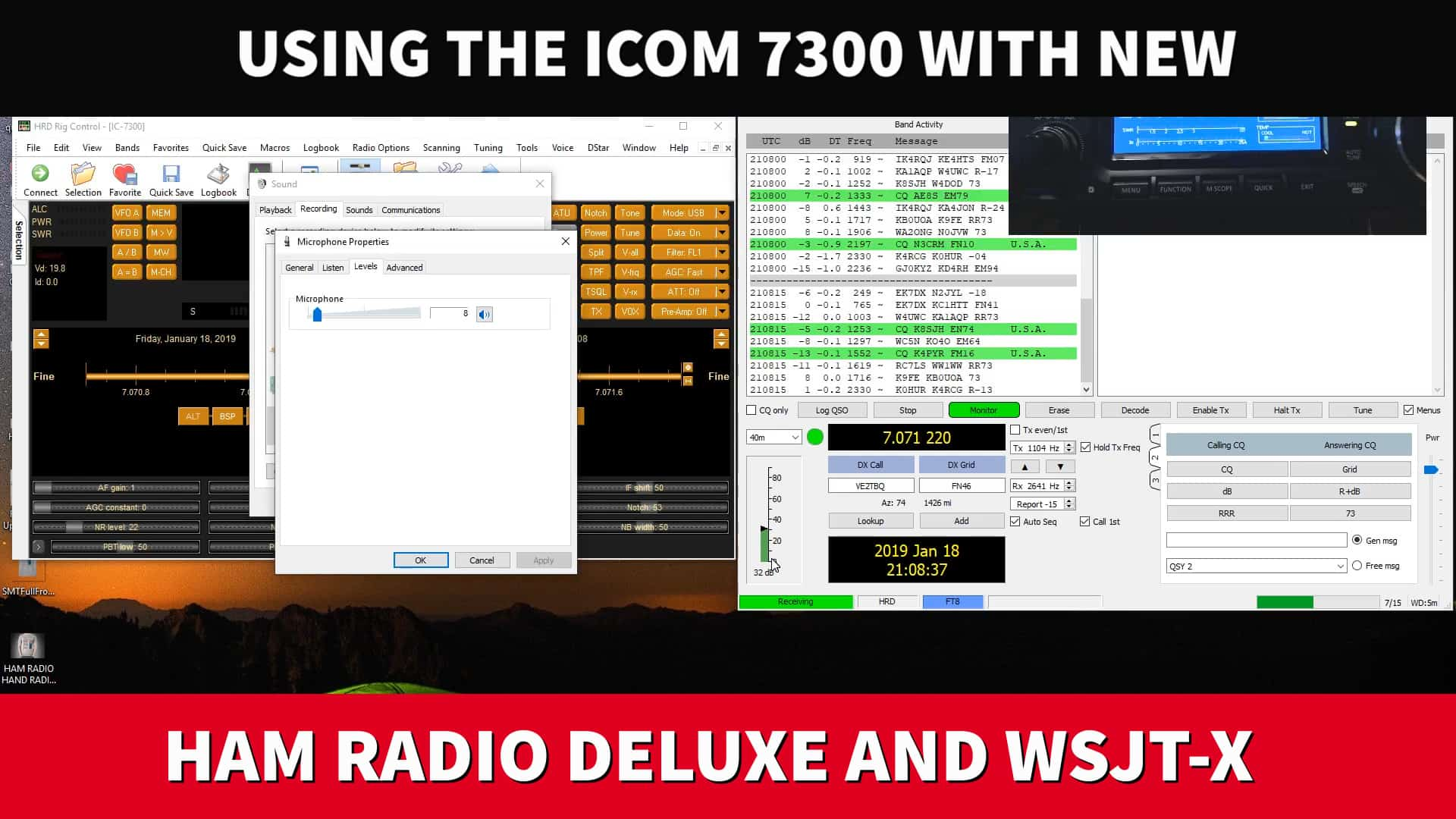 Using the Icom 7300 with NEW Ham Radio Deluxe and WSJT-X - Ham Radio