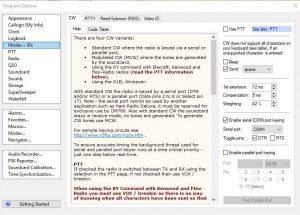 dm780 cw interface cw tab