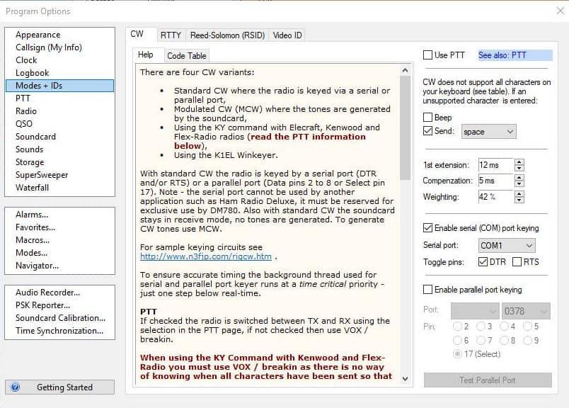 Digital Master 780 DM780 CW Send CW Interface - How To - Ham