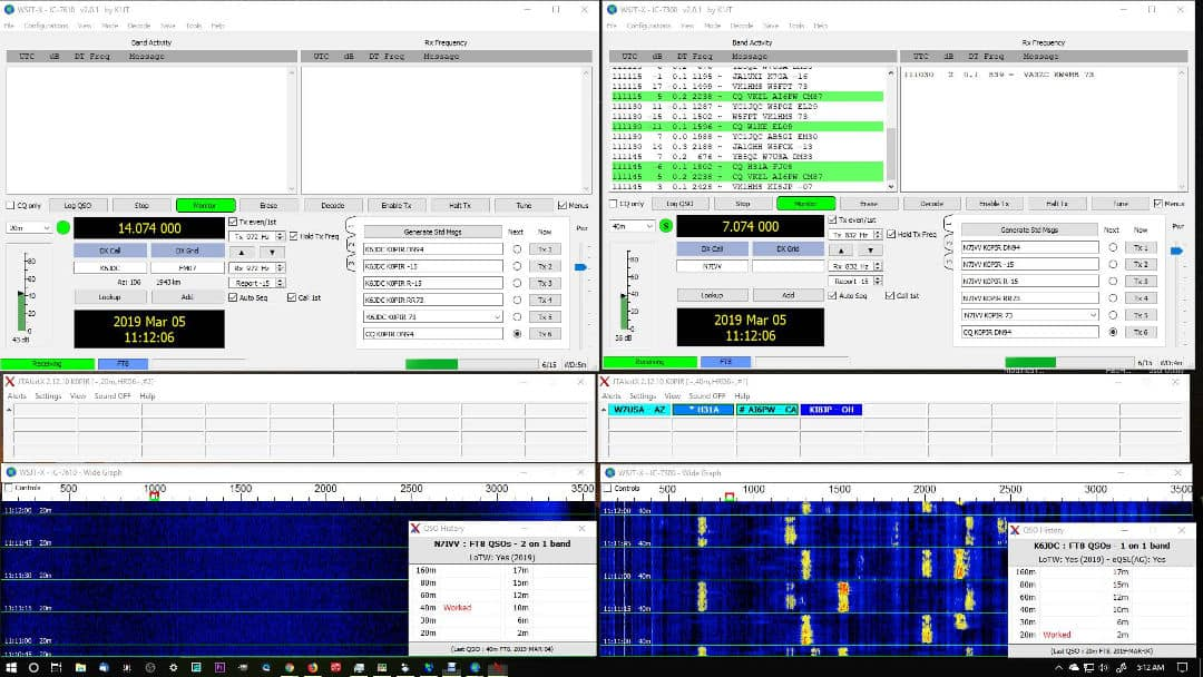 Two Instances of WSJT-X Running Simultaneously with Two Radios Two