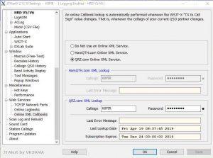 JT Alert Settings Online xml Callbooks