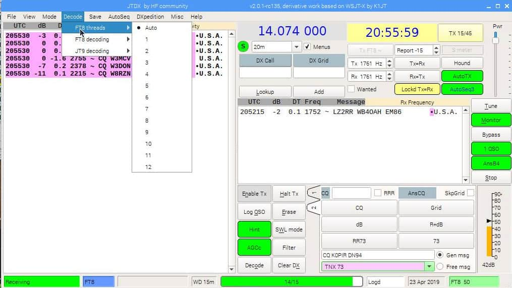 JTDX Raspberry Pi 3 with DX Keeper and Icom 7610 - Ham Radio with