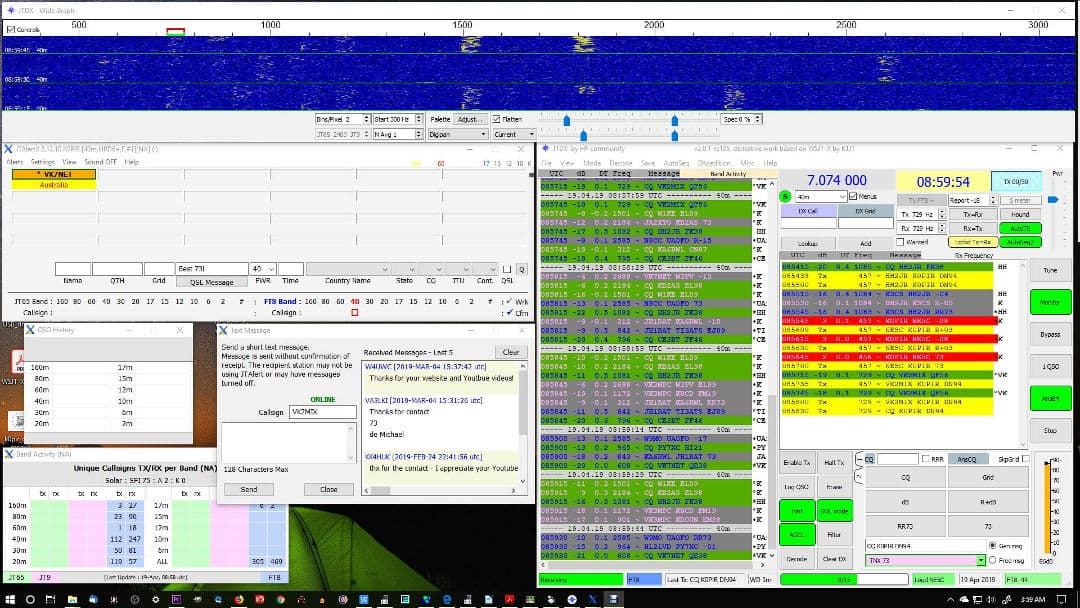 JTDX FT8 with Ham Radio Deluxe, JTAlert and the Icom 7610 - Ham