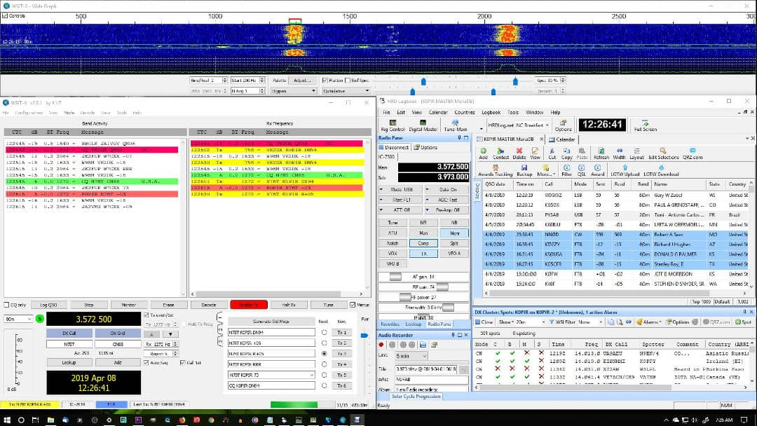 WSJT-X FT8 Using CI-V Cable Combined with Ham Radio Deluxe